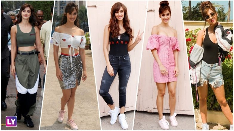 Disha Patani Looks Hot & Chic During Baaghi 2 Promotions ...