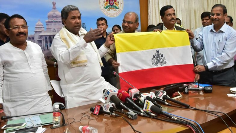 Karnataka Flag Issue on Hold as Election Code of Conduct Comes Into Force in Poll-Bound State, Says MHA