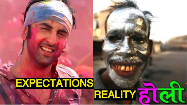 Funny Holi Photos, WhatsApp Jokes and GIF Image Messages to Wish Happy Holi 2018 and Bring a Smile on Your Friend's Face