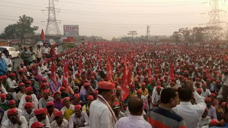 Maharashtra farmers' protest strengthens, thousands march to assembly