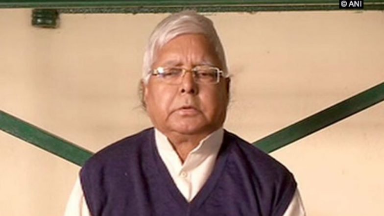 Lalu Prasad to Reach Ranchi Tomorrow Upon Expiry of Parole