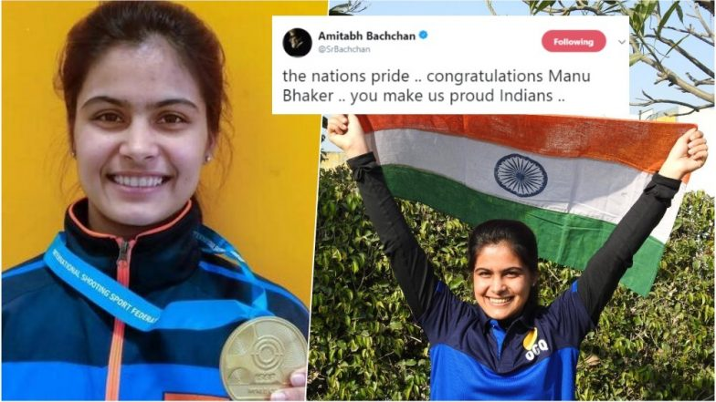 Manu Bhaker wins gold, bronze for Ravi Kumar