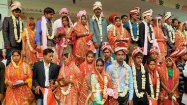 Mass Marriage: 64 Couples Tied Knot in the Mass Wedding Event at Moradabad in Uttar Pradesh