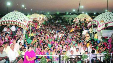 Mass Wedding Ceremony in Chhattisgarh: 1100 Couples Tie Knots, CM Raman Singh Graced the Occasion