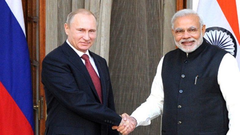 Russian President Vladimir Putin Sends Congratulatory Telegram to Narendra Modi on Poll Victory in Lok Sabha Elections 2019