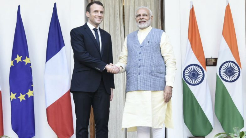 French President Macron on four-day visit to India