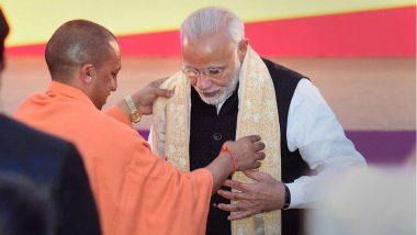 PM Narendra Modi Praises UP CM Yogi Adityanath for Measures to Tackle COVID-19 and Handling Migrant Crisis