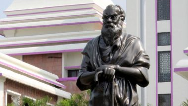 Periyar EV Ramasamy's Statue in Coimbatore Vandalised: Saffron Paint Poured All Over the Statue, Periyarists Demand Action Against Miscreants