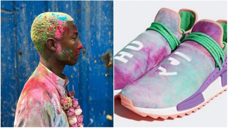 48d40414ba16d Pharrell Williams Adidas Holi Sneaker Collection Suggests Cultural  Appropriation  The Singer Faces Wrath of Indian