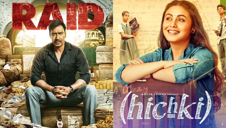 Box Office: Rani Mukerji's Hichki is Steady in its Opening Weekend; Ajay Devgn's Raid Continues to Impress