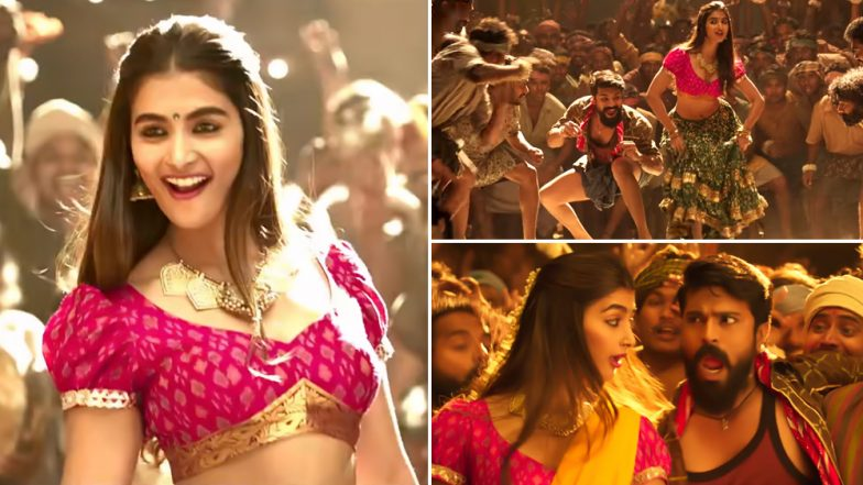 Rangasthalam Song Jigelu Rani Promo: Ram Charan and Pooja Hegde's Electrifying Moves Uplift An Otherwise Mediocre Item Song