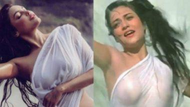 Ex-Bigg Boss Contestant Gizele Thakral's HOT Wet Saree