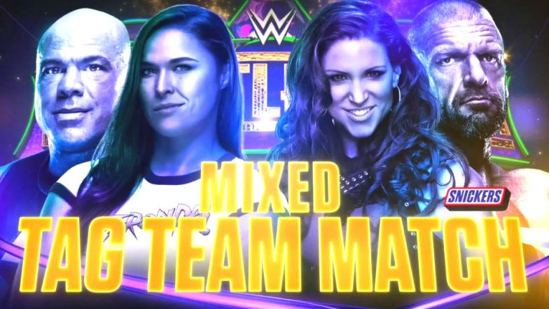 Kurt Angle and Ronda Rousey vs Triple H and Stephanie McMahon is Official – Schedule of WWE Wrestlemania 34 Blockbuster!