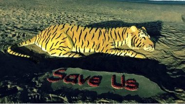 World Wildlife Day 2018 Marked With Big Cats Theme Sand Art by Sudarsan Pattnaik (See Pictures)