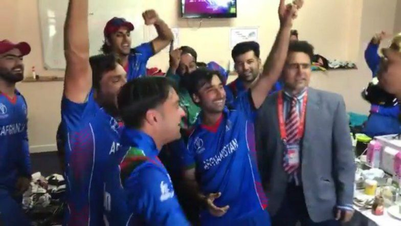 Video of Afghanistan's Dressing Room Celebration Post Cricket World Cup 2019 Qualification Will Give You Goosebumps