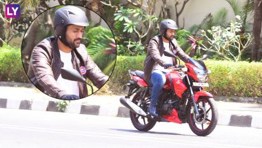 Mahendra Singh Dhoni Rides Bike on Mumbai Roads Without Security: Pics!