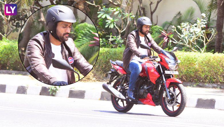 Mahendra Singh Dhoni Rides Bike on Mumbai Roads Without Security: Pics!
