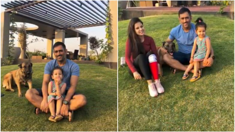 MS Dhoni, rested from Nidahas Trophy, chills out with Ziva and Sakshi