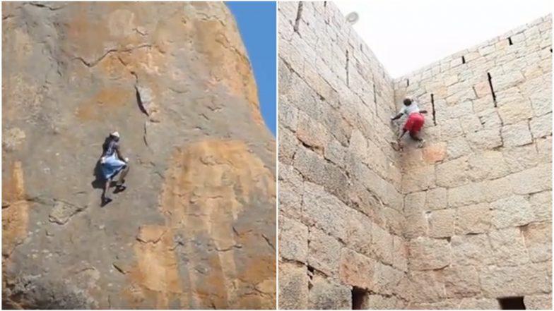 Indian Spiderman Kothi Rama From Karnataka Rescued from Jog Falls, Watch Video of his Climbing Skills