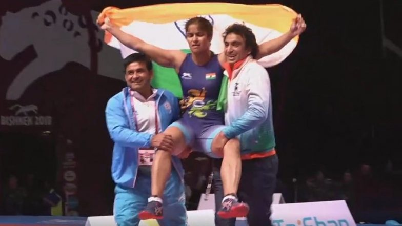 First Indian Woman Wrestler to Win Gold in Senior Asian Championships