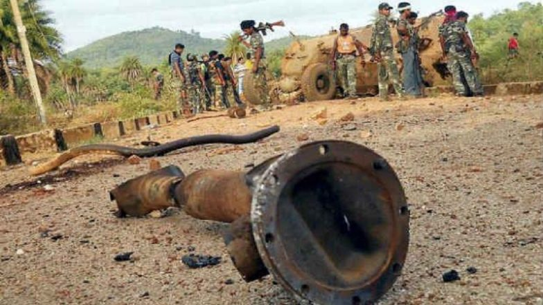 Naxals blow up CRPF vehicle, 9 jawans killed