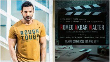 Not Sushant Singh Rajput, John Abraham to Play The Main Lead in Romeo Akbar Walter