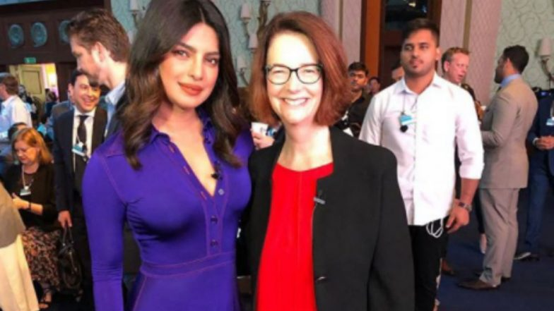 Priyanka Chopra bats for global education with former Australian PM Julia Gillard