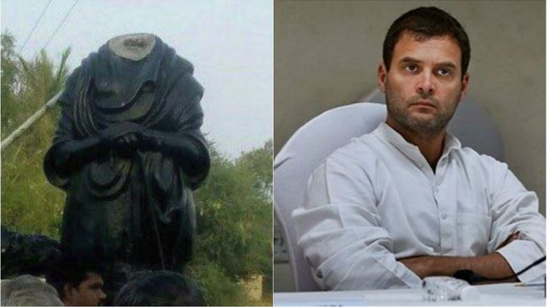 Rahul Gandhi blames BJP-RSS for vandalised Periyar statue in TN