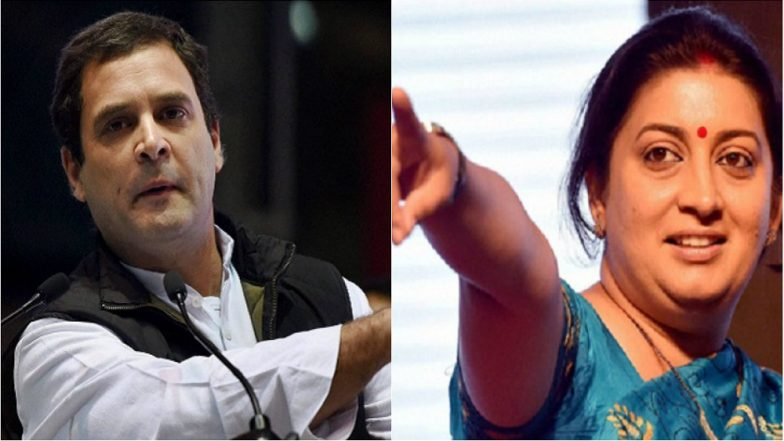 Lok Sabha Elections 2019: Smriti Irani Named in 1st BJP List of Candidates, Set to Contest Against Rahul Gandhi From Amethi