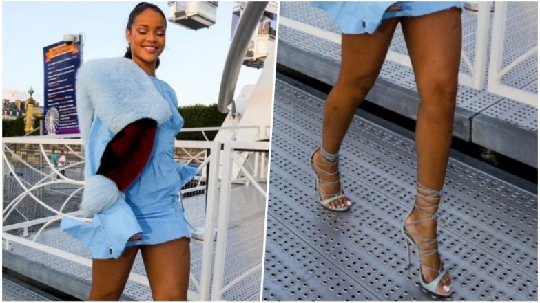 Rihanna Walking Confidently on Sidewalk-Grates in Heels Leave Twitterati Super Impressed! (See Freaky Pictures)