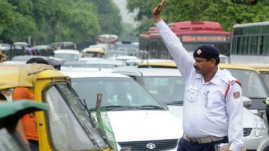 Maharashtra: Advocate Son Arrested for Trying to Run Over Traffic Cop in Thane; Watch Video
