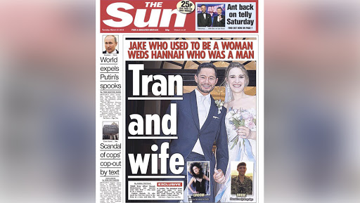 UK Paper Criticized For 'Tran And Wife' Headline Mocking Trans Couple