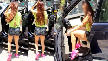 This Bollywood Babe Grabs Attention With Her Shorts, Shocking Pink Shoes and her Sunshine Personality: Click To Find Out Who!