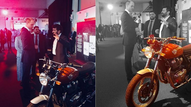 Royal Enfield Interceptor 650 Retro Classic Motorcycle Attracts Prince William's Attention
