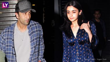 Brahmastra Co-stars Alia Bhatt and Ranbir Kapoor step out Twinning in Blue - Check out Pics