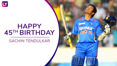 Sachin Tendulkar Turns 45: 10 Cool Facts About the Cricketing Legend to Celebrate his Birthday