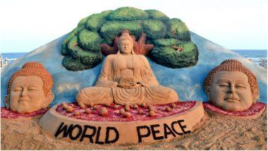 Buddha Purnima 2018: Sudarsan Pattnaik's Sand Art with Message of World Peace