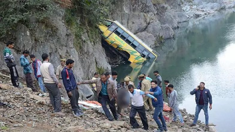 School Bus Plunges From Mountain in India 2-3 Kids