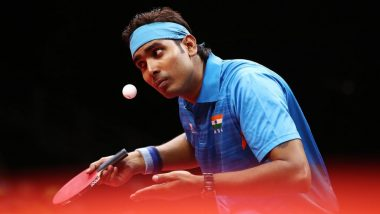 Sharath Kamal Beats Tiago Apolonia of Portugal 4-2 in Table Tennis Men's Singles Round 2 Match at Tokyo Olympics 2020