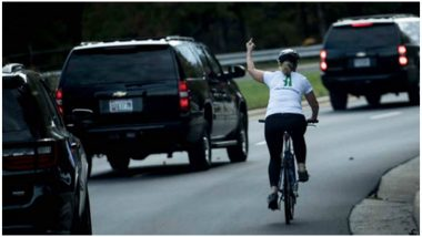 Cyclist Fired for Showing Middle Finger to Donald Trump Sues Ex-Employer, Says, It Was a Violation of Her Right to Free Speech