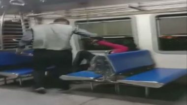 Woman Molested & Assaulted in Thane-CSMT Local Train in Mumbai, Accused Arrested: Watch Shocking Video
