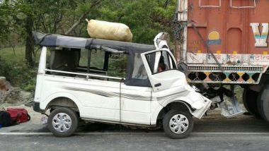Uttar Pradesh: Nine Dead After Vehicle Rams Into a Parked Truck in Lakhimpur Kheri