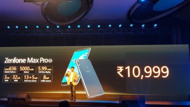Asus Zenfone Max Pro M1 Launched; Priced in India at Rs 10,999