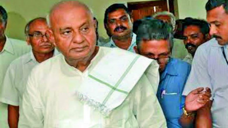Lok Sabha Elections 2019: HD Deve Gowda Picks Tumkur to Contest; Ally Congress' Sitting MP Firm on Challenging Him