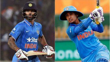 Arjuna Awards 2018: Cricketers Shikhar Dhawan, Smriti Mandhana Recommended by BCCI
