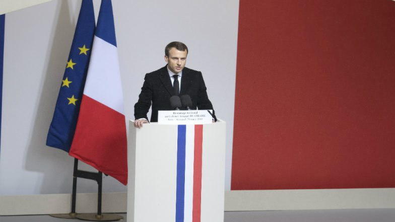 French President Emmanuel Macron Warns Rising Nationalism Would Put World Peace on Edge