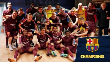 Barcelona Rides on Lionel Messi's Hat-trick to Lift La Liga 2017-18 Title (Watch Video)