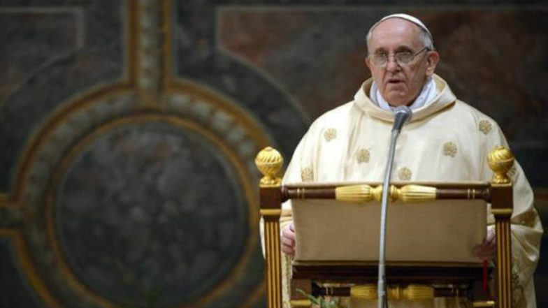 US Synagogue Attack 'Inhuman Act of Violence': Pope Francis