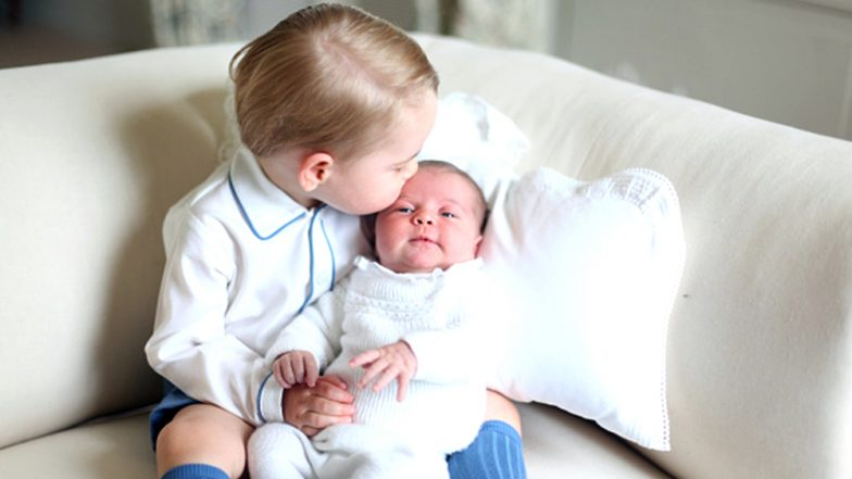 The royal siblings Prince George and Princess Charlotte welcome a baby brother