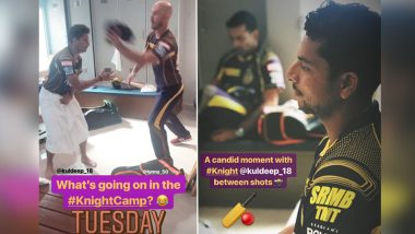 IPL Diaries 2018 Kolkata Knight Riders: Kuldeep Yadav Holds His Towel, While JP Duminy Messes With the Spinner